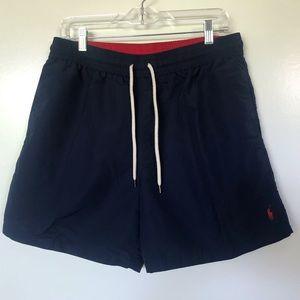Polo by Ralph Lauren Navy Nylon Swim Trunks